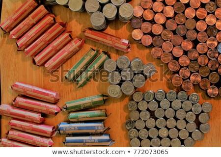 пенни вверх окна монетами бизнеса Сток-фото © Frankljr