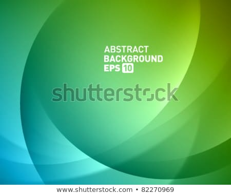 Bright green smooth waves vector background Stock photo © saicle