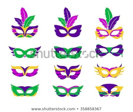mardi gras mask of feathers stock photo © blackmoon979