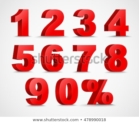 Red numbers set #2 stock photo © Oakozhan