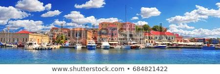 Port Grèce vieux forteresse plage Photo stock © neirfy