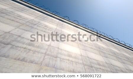Huge High Security Wall Stock photo © albund