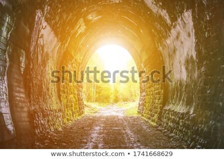 Persona fine tunnel uscire luce nero Foto d'archivio © adamr