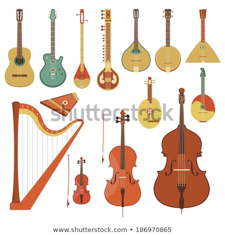 hangszerek · ikonok · különböző · gitár · háló · rajz - stock fotó © curiosity