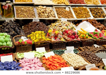 sweet sugar treats on street market stock photo © stevanovicigor