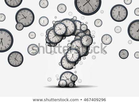 вопросе время вопросы группа часы Сток-фото © Lightsource