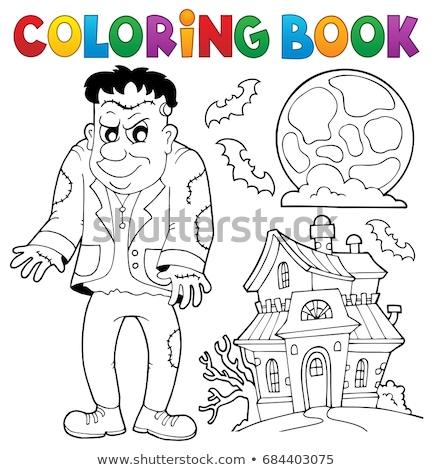 книжка-раскраска книга здании искусства рисунок ходьбы Сток-фото © clairev