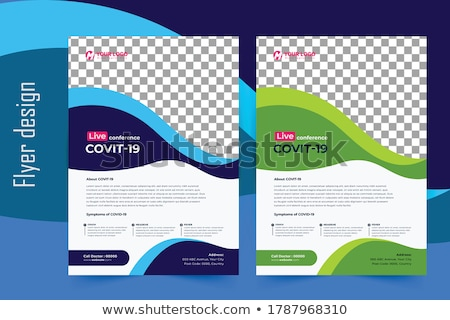 modern business corporate brochure flyer design vector template stock photo © orson