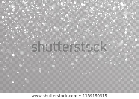 Flyer template with falling snow effect Stock photo © orson