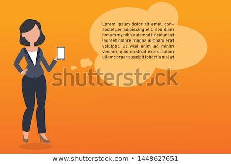 Career Development - Cartoon Orange Word. Business Concept. Stock photo © tashatuvango