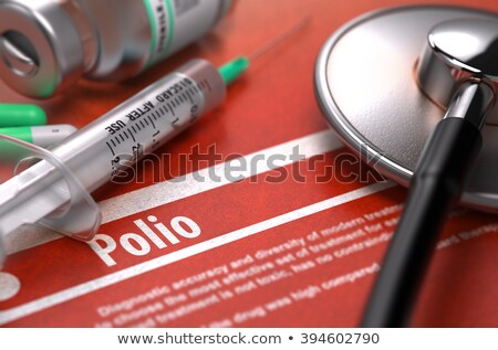 Polio - Printed Diagnosis on Orange Background. Stock photo © tashatuvango