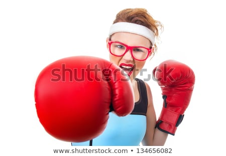 Stock photo: focus on a punch of an angry woman