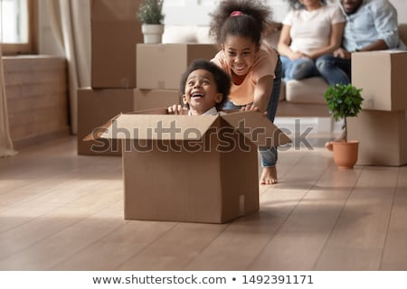 boy in box shouting Stock photo © IS2