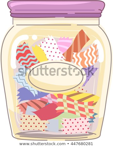 Pre Cut Fabric Jar Stock photo © lenm