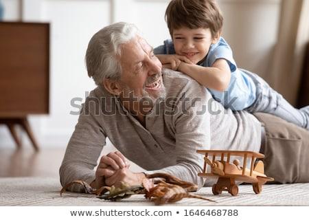 Grand-père jouer petit-fils enfant garçon jouet Photo stock © IS2