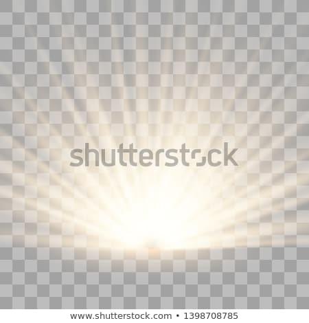 establecer · transparente · dorado · luz · efecto · sol - foto stock © sarts