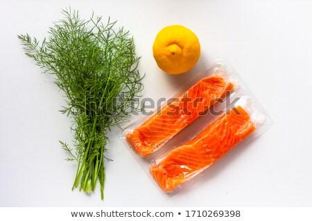 łososia filet żywności ryb biały diety Zdjęcia stock © M-studio