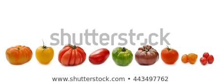 Variedade tomates madeira agricultura fresco dieta Foto stock © M-studio