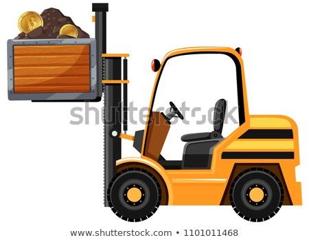 Minière tracteur bitcoin illustration travaux fond Photo stock © bluering