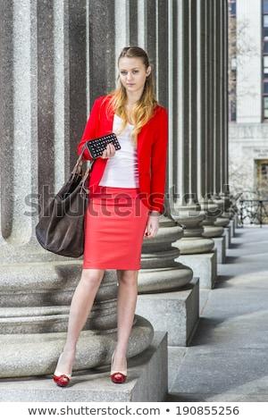модный женщину блондинка куртка белье Sexy Сток-фото © dmitriisimakov