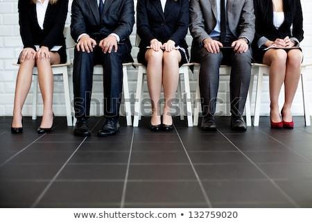 待って · 座って · 椅子 · オフィス - ストックフォト © andreypopov