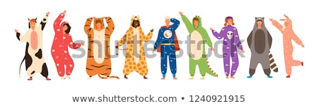 Cartoon Smiling Woman In Pajamas Stock photo © cthoman