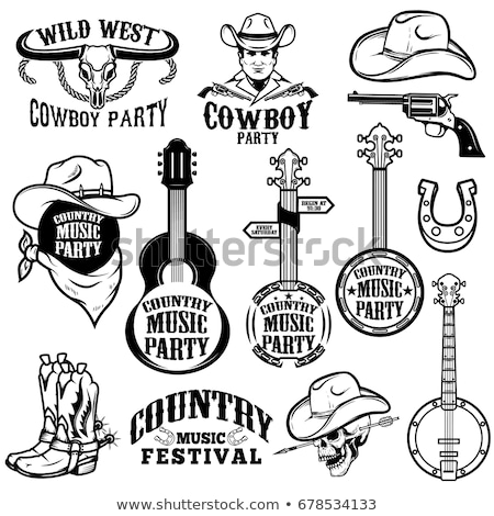 Country Music Elements Illustration Stock photo © lenm