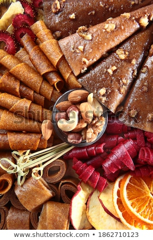 Inscription Nuts, from different nuts . Free space for text stock photo © Valeriy