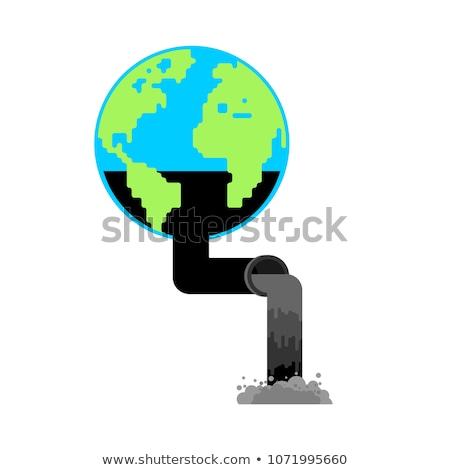 Föld pumpa olaj gyártás benzinkút világ Stock fotó © MaryValery