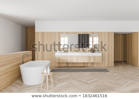 Banyo çift batmak kahverengi kibir duvar Stok fotoğraf © grafvision