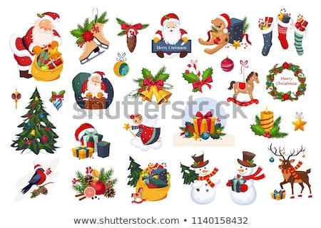 Christmas snowman zabawki tle Zdjęcia stock © karandaev