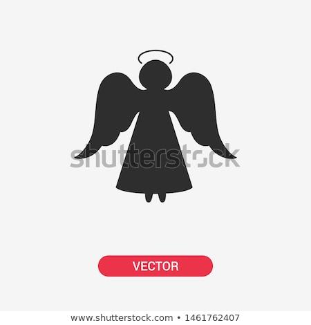 girl angel silhouette Stock photo © adrenalina