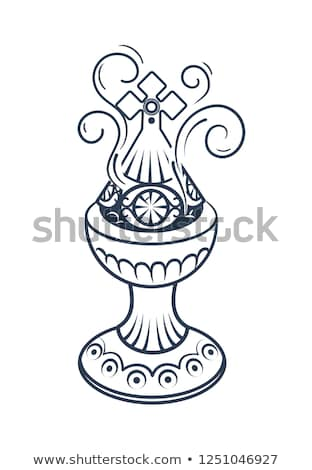 Old censer hung  icon gold Stock photo © Olena