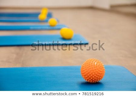 Grup mavi pilates spor salonu uygunluk Stok fotoğraf © boggy