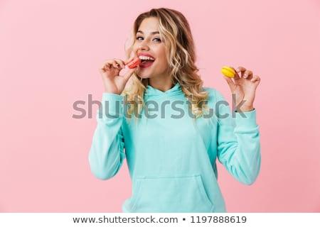 foto · pretty · woman · abbigliamento · mangiare · due - foto d'archivio © deandrobot