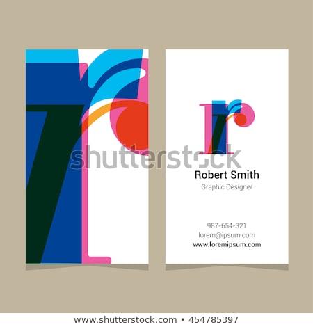 Letter r groene paars icon vector logo Stockfoto © blaskorizov