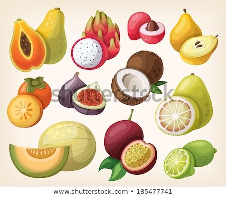 エキゾチック フルーツ ベクトル 熱帯 食品 アイコン ストックフォト © robuart