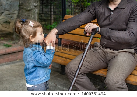 Muslim Girl Kissing Her Father Hand Stock photo © artisticco