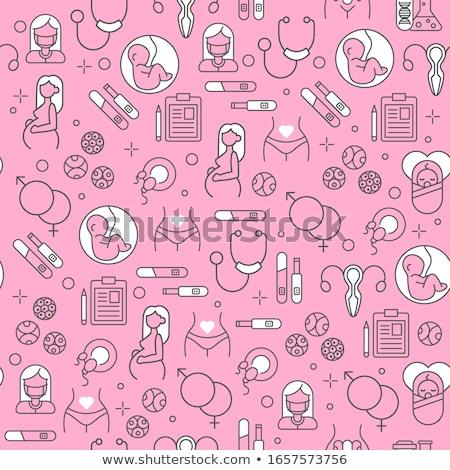 Maternidade ícones padrão família eps 10 Foto stock © netkov1