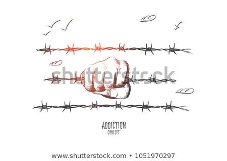 международных · терроризм · террористический · маске · ядерной - Сток-фото © rastudio