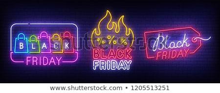 Nagy őszi ajánlat black friday ünnep vásár Stock fotó © robuart