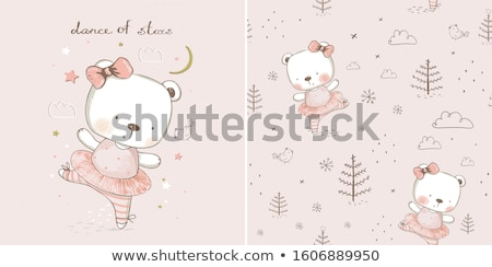 cute baby background seamless pattern stock photo © lemony