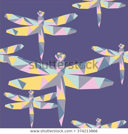Bright polygonal dragonfly Stock photo © blackmoon979