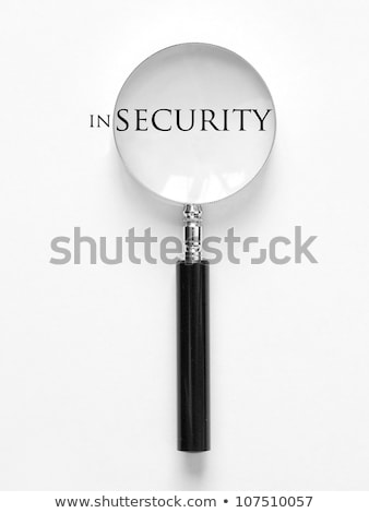 Risk Word With Help Of Magnifying Glass Stock photo © AndreyPopov