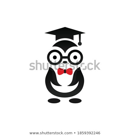 Afstuderen pinguin water student kunst onderwijs Stockfoto © lemony