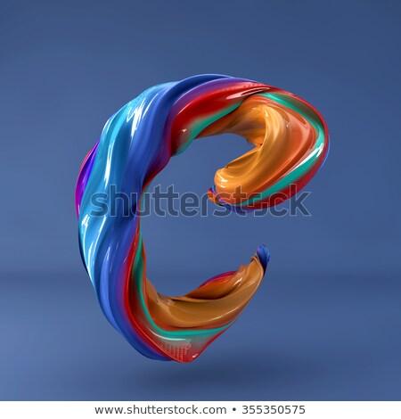 Niebieski gradient litera c 3D 3d ilustracja Zdjęcia stock © djmilic