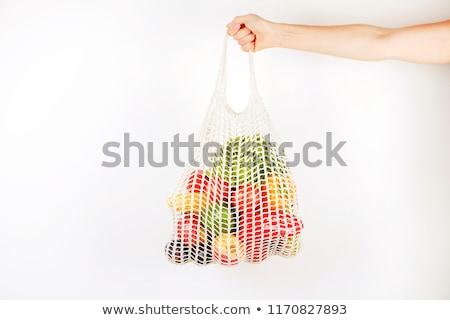 Stok fotoğraf: Sebze · meyve · net · çanta · görmek · mutfak · tezgahı
