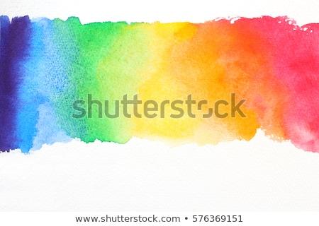 Szivárvány festék festett kék zöld piros Stock fotó © blackmoon979