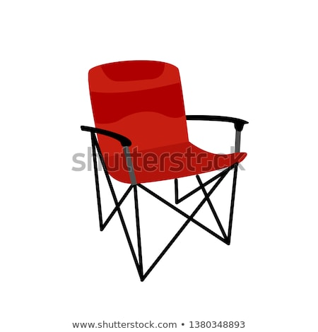 camping chair vector flat icon stock photo © smoki