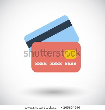 クレジットカード · アイコン · ベクトル · 長い · 影 · ウェブ - ストックフォト © smoki